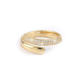 Sterling zilveren ring gold plated