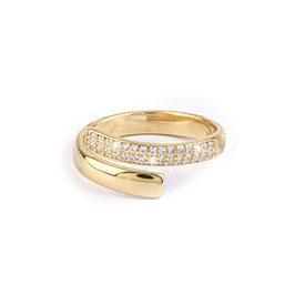 sterling zilveren ring gold plated