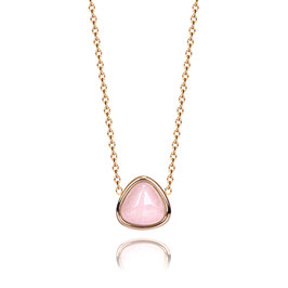10 mm, lenght necklace 42+5 , rose quartz