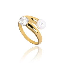 Sterling zilveren ring goldplated Chiara