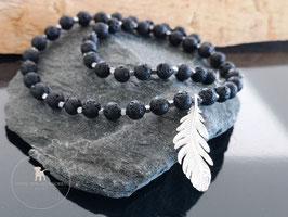 Halskette kurz lava