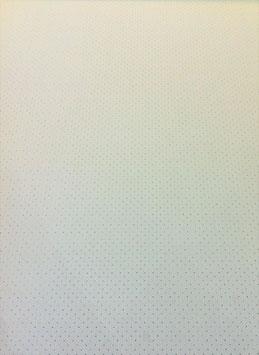 Simili Automobile perforé blanc