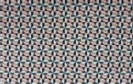 Baumwollsatin mit Elastan - grafisches Muster