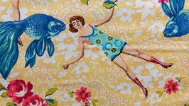 Baumwolldruck  What whould Poseidon say?  Design Margot Elena
