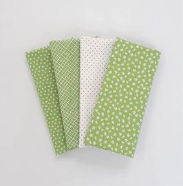 Stoffpaket kleine Muster grün