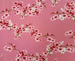 Baumwollsweat Kirschblüten rosa