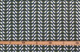 Canvas Baumwolldruck  Blätterranken (Kokka)
