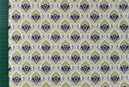 Baumwolljersey hellgrünes Muster