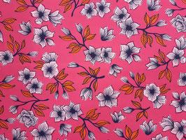 Canvas Blumen auf Pink