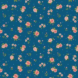 Baumwollsweat rosa/jeansblau