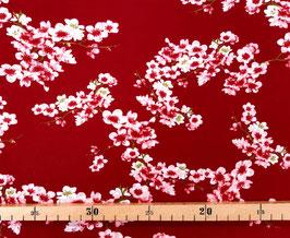 Baumwollsweat Kirschblüten rostrot