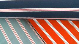 Baumwolljersey Streifen mint/hellrot/weiß