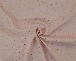 Mousselin Minipünktchen rosa metallic