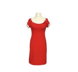 Kleid Ferrara rotweiß