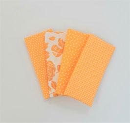 Stoffpaket kleine Muster gelb