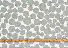 Canvas Punkte grau/weiß