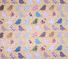 Baumwolldruck Patchworkvögel