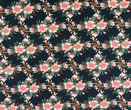 Baumwolljersey Blumenmuster
