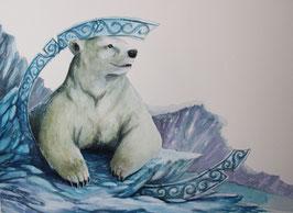 Ours blanc - Aquarelle
