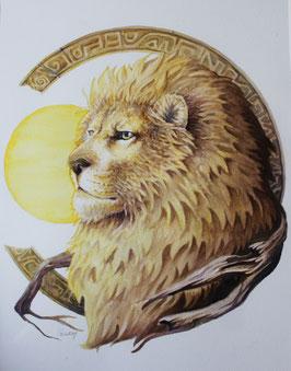 Lion - Aquarelle