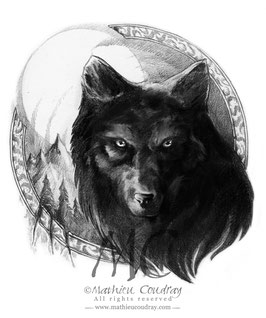 Les Enfants de la Lune - Loup noir
