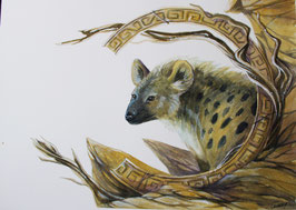 Hyène - Aquarelle
