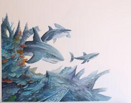 Requin - Aquarelle