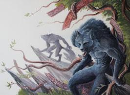 Loup-garou - Aquarelle
