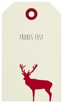 Geschenkanhänger Rudolph