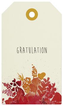Geschenkanhänger Gratulation