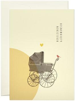 Glückwunschwagen gelb