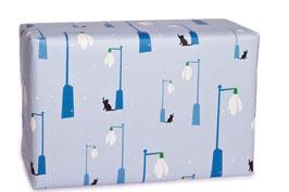 Geschenkpapier Schneeglöckchenlaterne