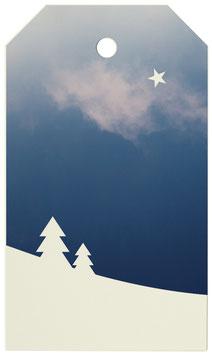 Geschenkanhänger Schneelandschaft