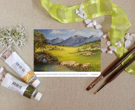 """Postkarte """"Auf grünen Auen"""""""
