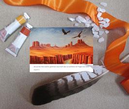 """Postkarte """"Mit Flügeln wie Adler"""""""