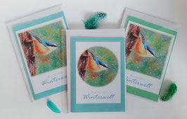 """Karten-Set """"Kleiber - Wunderbare Winterwelt"""""""