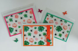 "Karten-Set ""Flowers"""