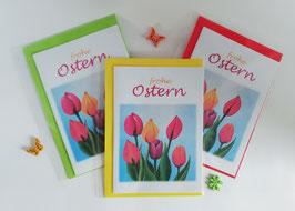 "Karten-Set ""Tulpen zu Ostern"""