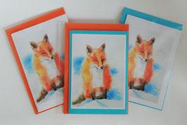 """Karten-Set """"Fuchs im Winter"""""""