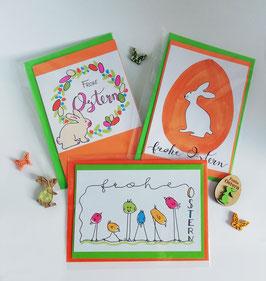 "Karten-Set ""Frohe Ostern"""