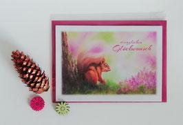 """Karte """"Eichhörnchen - Glückwunsch"""""""