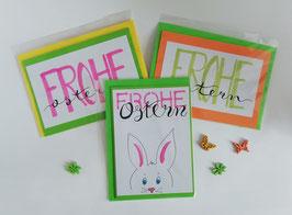 """Karten-Set """"Froher Osterhase"""""""