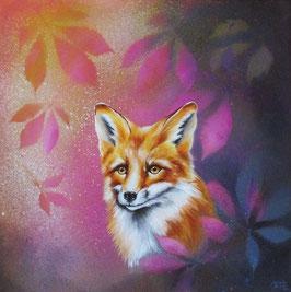 Fuchs in buntem Laub