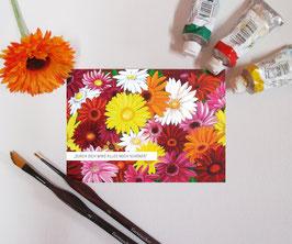 """Postkarte """"Sag es durch die Blume mit Gerbera"""""""