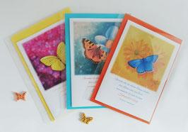 """Karten-Set """"Bunte Schmetterlinge"""""""