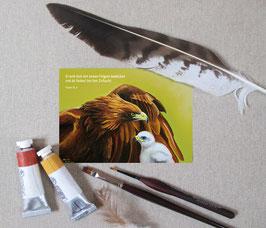 """Postkarte """"Unter seinen Flügeln"""""""