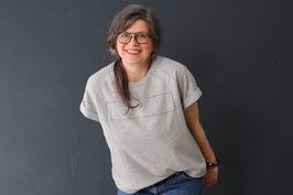 Anleitung: Kastiges Sommersweatshirt mit besonderem Saumverlauf