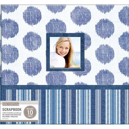 K and Company - 30 x 30 Scrapbook Window Album - Vintage Blue