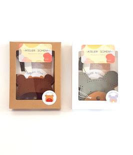 Porte-monnaies - Stan l'ours et Louise la souris