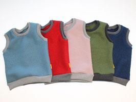 Pullunder aus Wollwalk 10 Farben